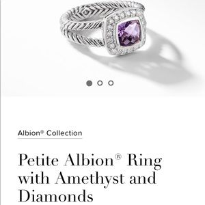 DY Petite Albion Ring with Diamonds